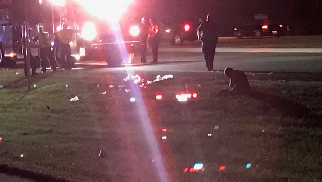 Police and firefighters responjdeed to a crash between a pedestrian and a truck at Estero Boulevard and U.S. 41. The crash was later reported as a fatality.
