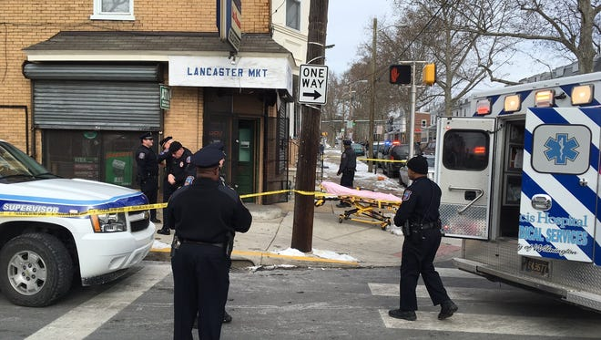 The death of a 64-year-old man, who was found shot in the head in the area of Lancaster Ave. and N. Clayton Street, is being investigated as a homicide.