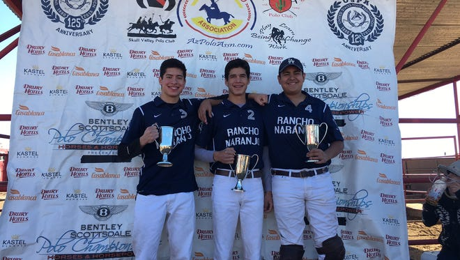 The Rancho Naranjo Polo Club won the U.S. Polo Association National Arena Amateur Cup at Polo Azteca  Club and Academy in Phoenix.