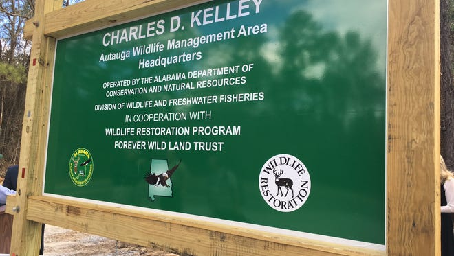 The Autauga Wildlife Management Area has been renamed in honor of Charles D. Kelley, who served as conservation commissioner for 40 years.