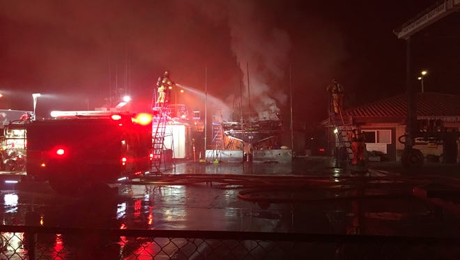 Multiple suspicious fires were  reported early Tuesday at Ventura Harbor.
