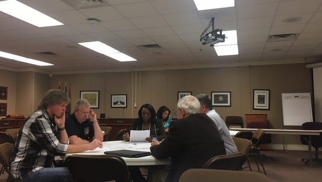 An ad hoc subcommittee discussed recommendations regarding a superintendent search advisory committee Wednesday at a Jackson-Madison County School Board meeting.