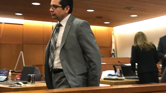 Murder defendant Marco Casillas is shown in Ventura County Superior Court.