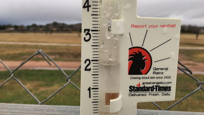 A rain gauge in College Hills