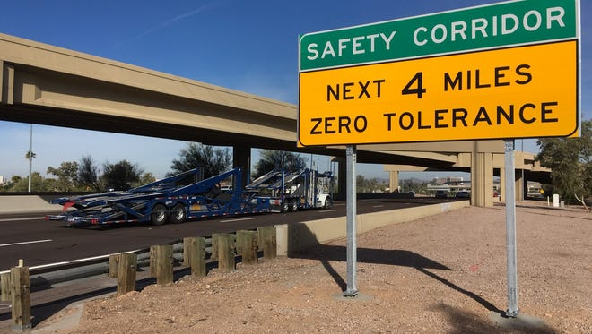 In December, the state Department of Transportation began enforcing freeway safety corridors.