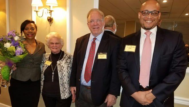 (L-R) Ervin Award recipient Jami A. Coleman, Helen Ervin, TBA President Dick Collins and award presenter Linje Rivers.
