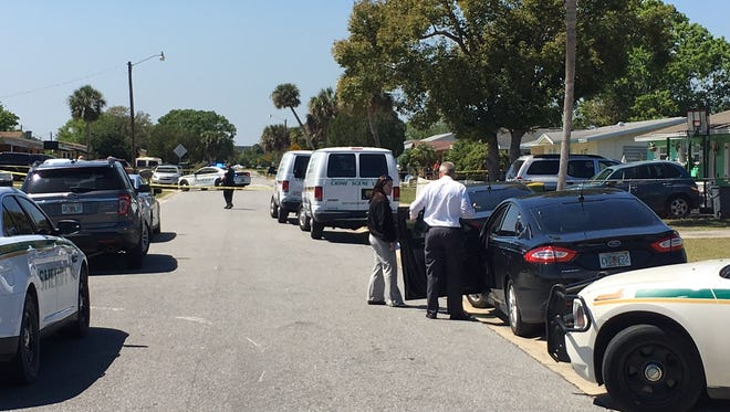Investigators look into reports of a shooting that took place on Brophy Boulevard.