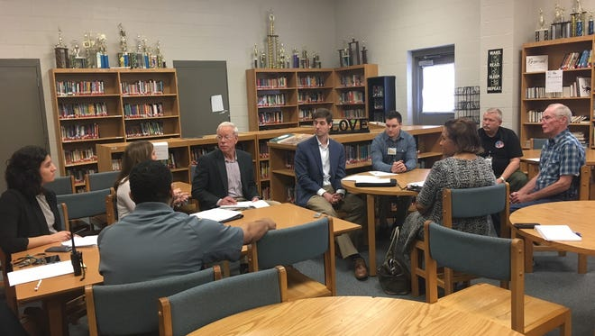 The technology committee discussed various topics at its meeting Monday at Northeast Middle School.