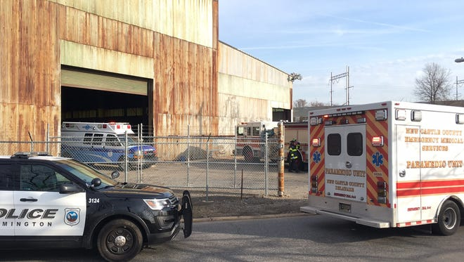 A worker was injured Monday morning at Steel Suppliers Erectors. Emergency responders found him trapped under steel beams