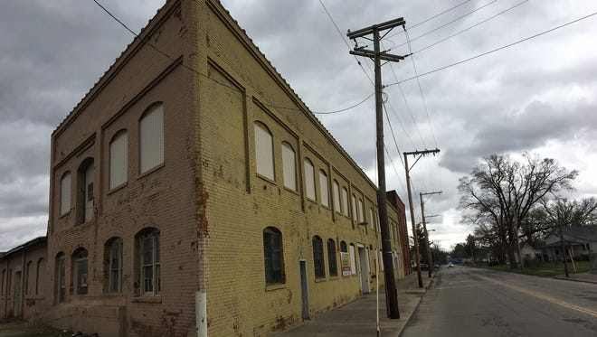 The former Indiana Pressed Steel building along Ohio Avenue in Muncie.
