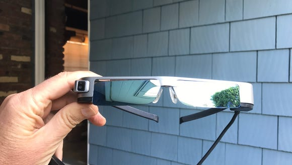 The Epson Moverio smart glasses connects to your drone