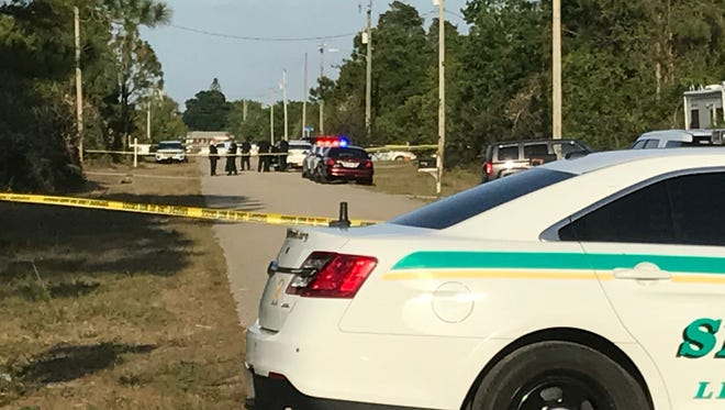 Crime scene tape had a section of 4th Street SW in Lehigh Acres blocked on Thursday evening.