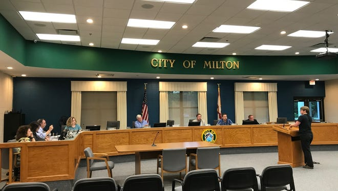 The Milton City Council on Monday, May 1, 2017, after three members walked out following a motion made by Councilman Jeff Snow.
