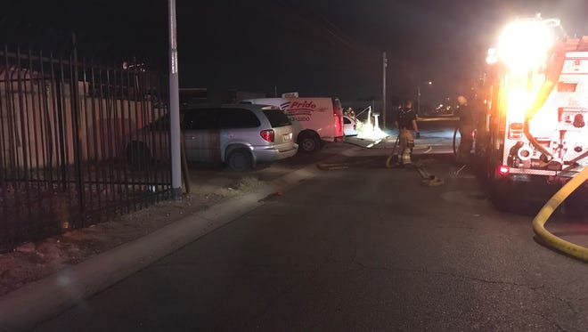 A dog was killed during a fire at a mechanic shop in West Phoenix early Sunday morning.