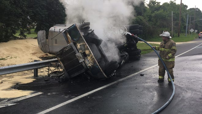 Delaware State Police are investigating a crash involving an overturned tractor-trailer which occurred this morning.