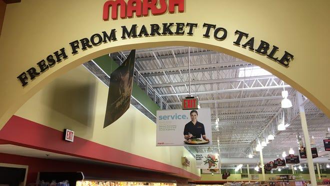 Inside the Marsh Supermarket on Tillotson Avenue in Muncie.