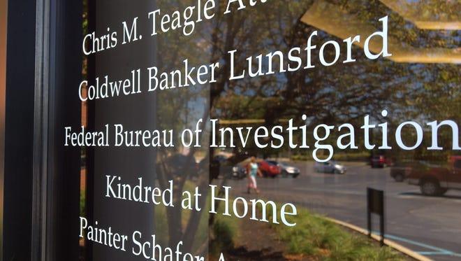 Sign outside the FBI office in Muncie.