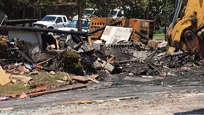 The charred remains of Joe Keleman's a Piscataway home which was destroyed in an explosion and fire on June 11