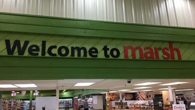 This sign greets shoppers at Muncie's North Walnut Street Marsh store, which is slated to close.