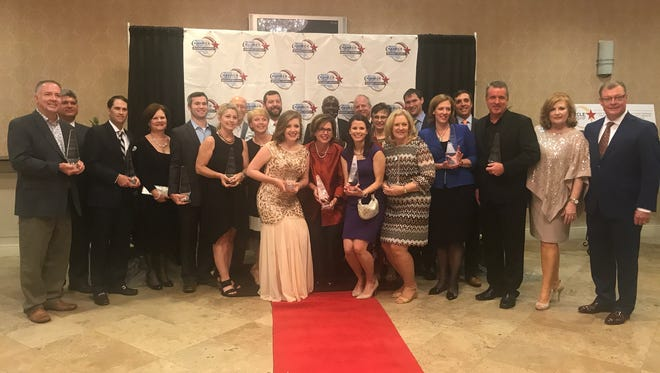 Winners of the 2017 Central Louisiana Chamber of Commerce Business Awards are pictured following Friday night's awards ceremony.