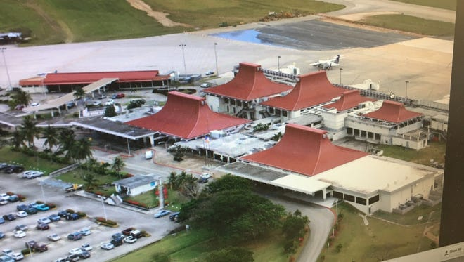 Saipan International Airport, as shown on a monitor in a photo on the airport's website.