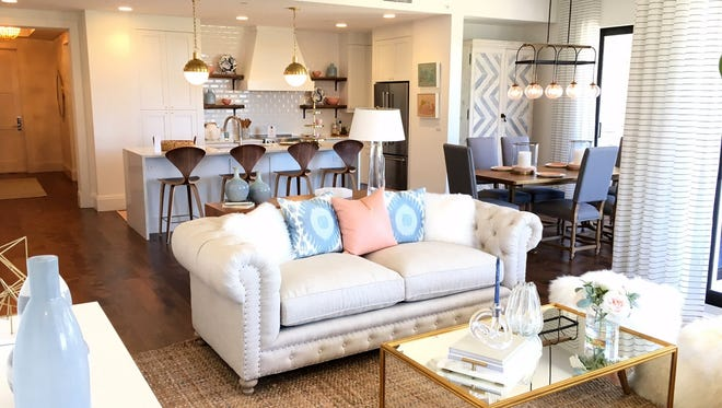 The Ronto Group's furnished Phase II Denison model is one of three furnished models open for viewing in Naples Square.