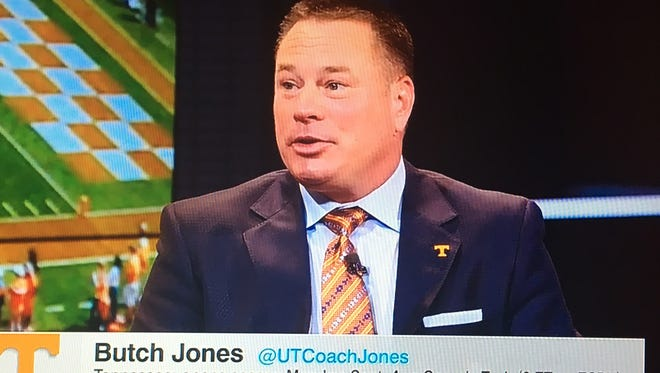 Vols coach Butch Jones made several appearances on ESPN shows Monday.