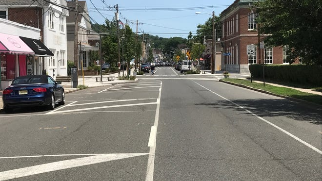 Millburn Avenue as it enters the downtown business district.
