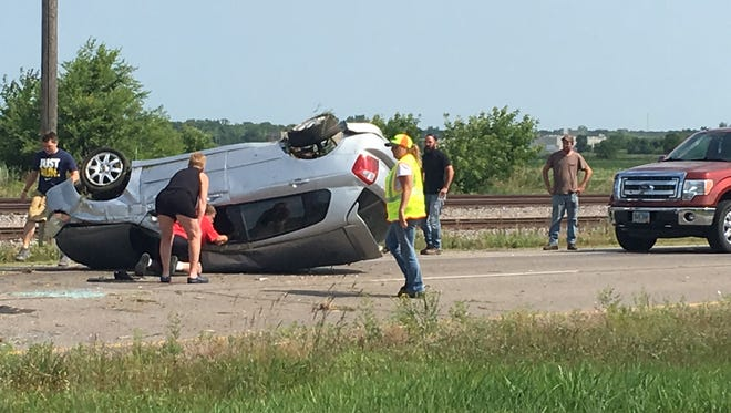 An accident occurred around 11 a.m. Tuesday on Second Street South in Waite Park.