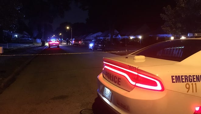 A 4-year-old girl was shot in the neck and critically injured Friday evening in Fox Meadows.