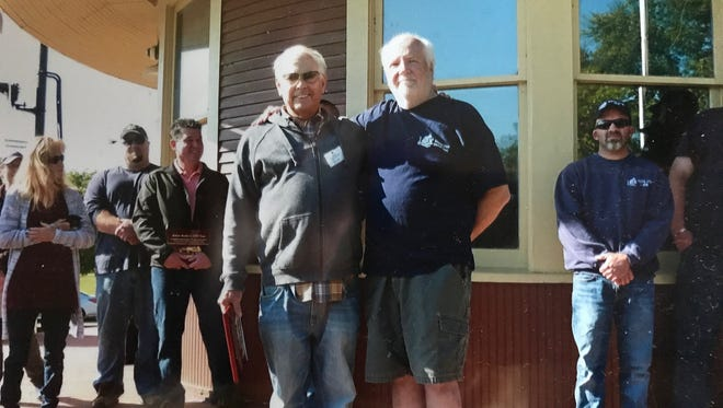 """Bob Tremitiere (left)  was named """"Person of the Year,"""" while Bob Martin (right) accepted an award on behalf of the City of South Lyon Department of Public Works employees."""