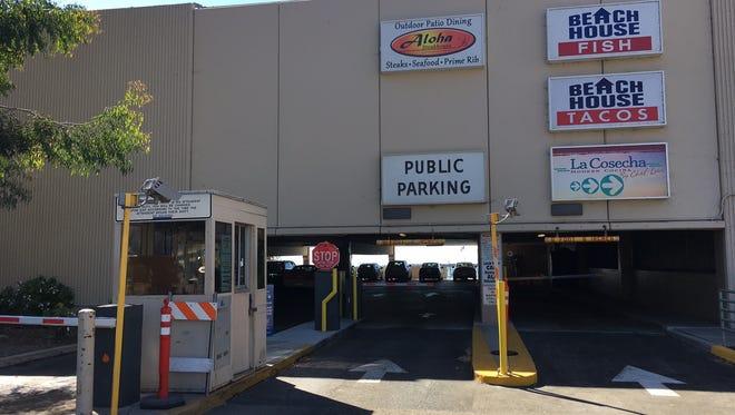 The beachfront parking structure in Ventura.