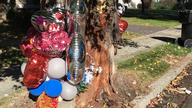 A memorial has been set up on Woodland Avenue, Plainfield where a 30-year-old city man died after being pursued by police.
