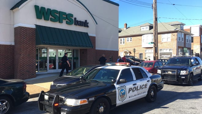 Wilmington police are investigating the robbery of a WSFS Bank branch at 211 N. Union St. on Monday afternoon.