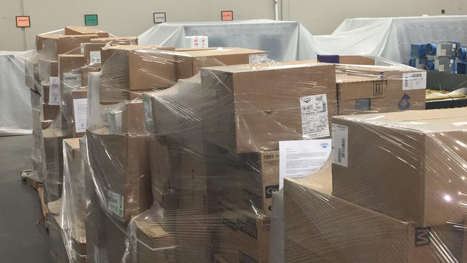 The Golisano Children's Hospital of Southwest Florida is shipping 592 cases of medical supplies to a children's hospital in San Juan