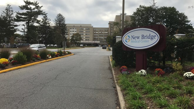The main entrance to New Bridge Medical Center, formerly Bergen Regional, in Paramus.