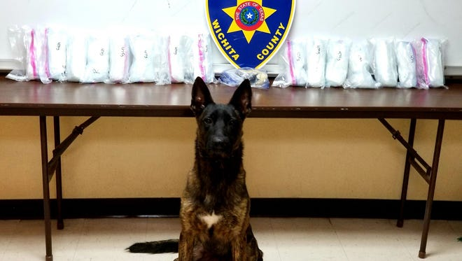 On Oct. 14, a Wichita County Drug Interdiction Deputy and his K-9 partner, Cane, conducted a traffic stop and reportedly seized more than $750,000 in crystal meth and heroine.