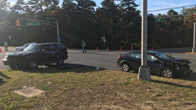 Two drivers were hurt in a Sunday afternoon crash.