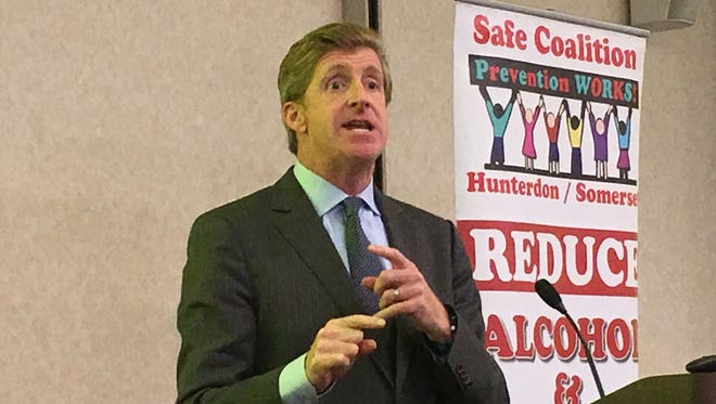 Former  U.S. Rep. Patrick Kennedy discusses mental health and addiction Wednesday for a conference at Raritan Valley Community College in Branchburg.