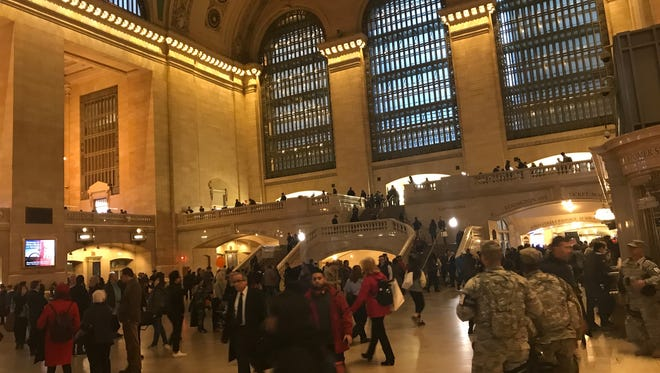 City and state officials detailed a series of steps they are taking to tighten security in the region, including extra patrols in Grand Central Terminal, Nov. 1, 2017.
