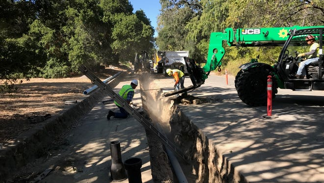 A water pipe is replaced in Ojai.