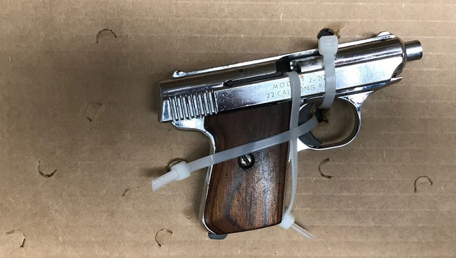 This .22 caliber handgun was recovered by police from a 15-year-old boy at the North Florida Fair on Friday night