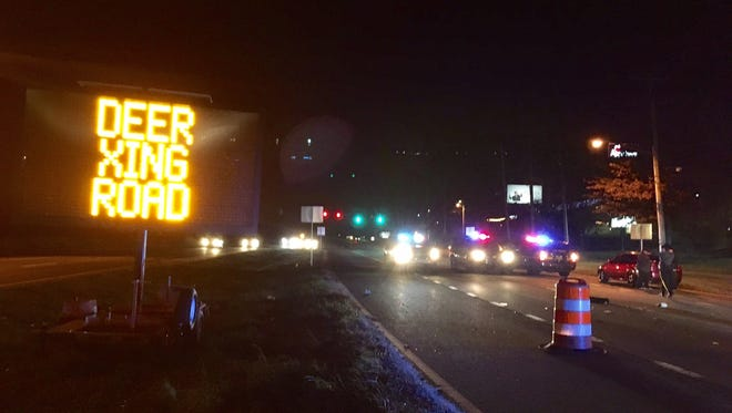 Pedestrian hit on Route 40.