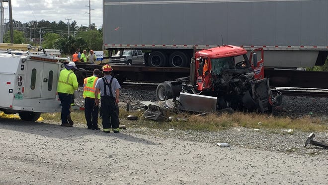 Brevard County Fire Rescue crews and sheriff's deputies responded to an incident involving a tractor trailer and a train near Beau Geste Road.