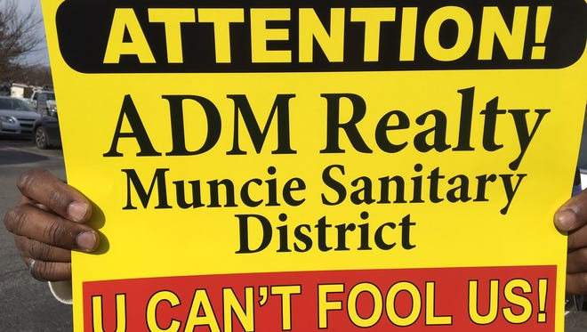 Signs that Whitely residents are distributing to put in yards.