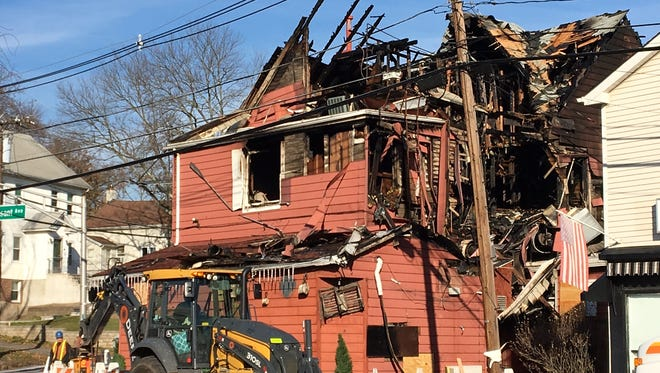 Billy & Madeline's Red Room Tavern in Hanover Twp., one day after a fire gutted the iconic restaurant on Parsippany Road.
