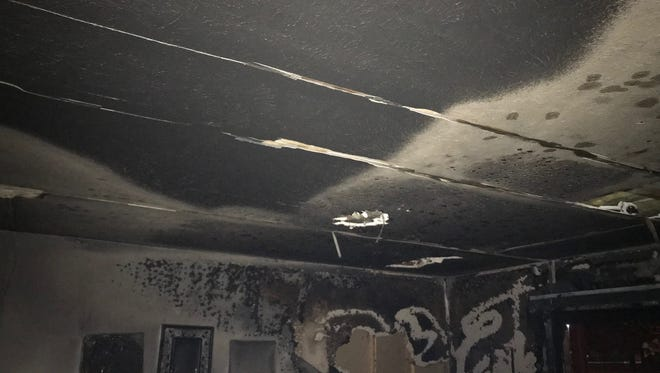 An elderly couple has been displaced from their home after a late night apartment fire destroyed much of their belongings.