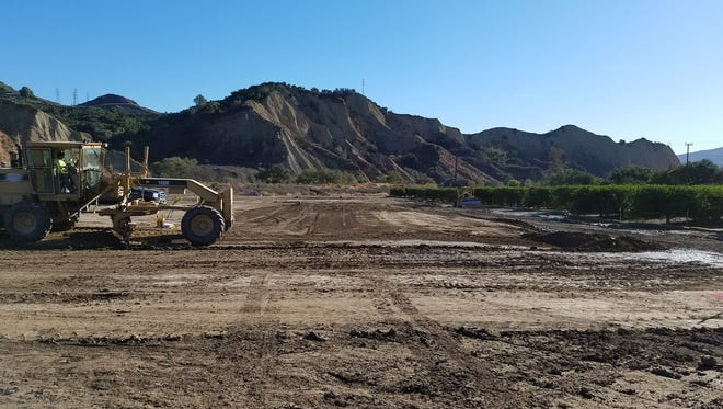 Grading is under way for a new school farm on a 29-acre property on Grant Line Road in Santa Paula.