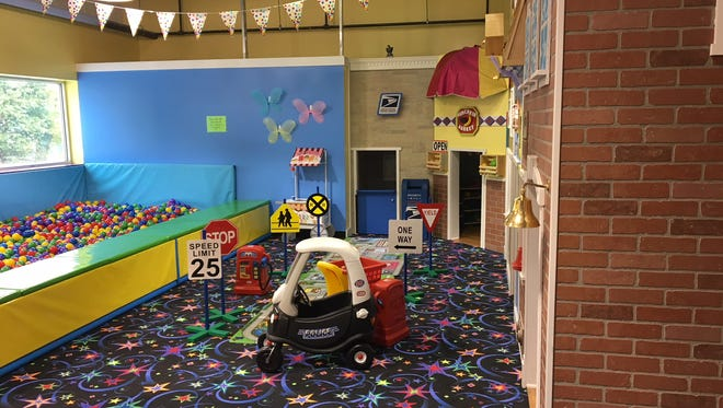 Tiny Tykes Town is a newly-added attraction at ISC Mount Laurel. It features an imaginary town for children under 4 as well as balls and other soft play areas.