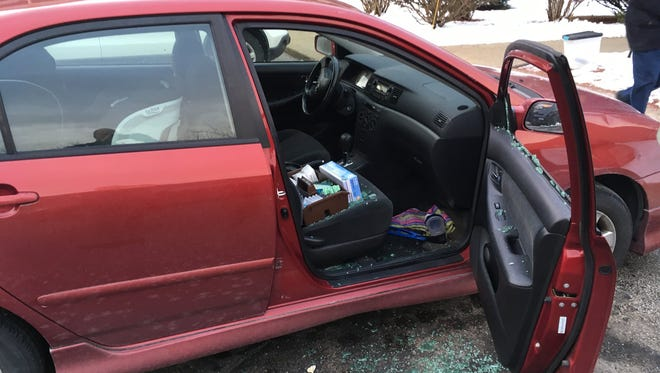A car window was smashed in order to steal a purse on Jan. 26 at Elm Grove Pre-School parking lot.